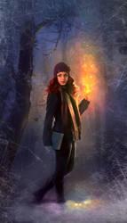 Defying Winter by Elf-in-mirror