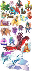 The Conflagration as Pokemon by Kimbolt-Prime