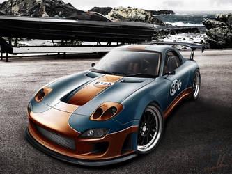 Mazda Rx-7 - Gulf by wallla
