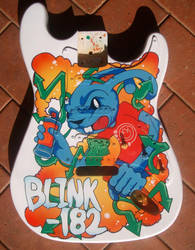 Blink 182 guitar no2 by magaggie