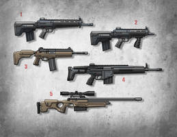 More weapon drawings by stehull