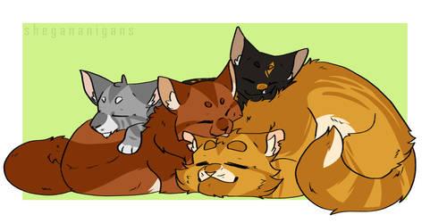 Family Nap by Shegananigans