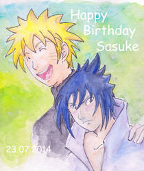 Happy Birthday Sas-uuke by MinamiTakahashi