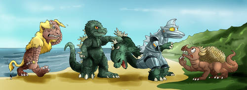 Godzilla vs Mechagodzilla (1974) by Natsuakai
