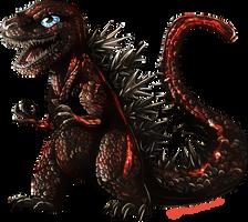 Chibi Shin Godzilla by Natsuakai