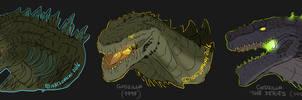 Godzilla doodles by Natsuakai