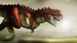 Dinovember Day 2: Carnotaurus by Natsuakai