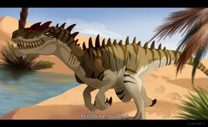 Dinovember #1: Allosaurus by Natsuakai