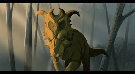 Dinovember #2: Pachyrhinosaurus by Natsuakai