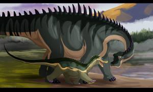 Dinovember #3: Nigersaurus by Natsuakai