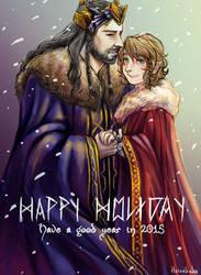 Happy Holiday postcard by hatoribaka