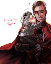I love you, Papa by hatoribaka