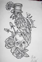 Lord Crow tattoo flash by MissMisfit13