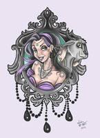 Esmeralda gipsy tattoo flash by MissMisfit13