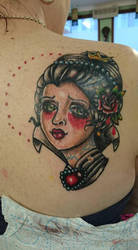 Queen of hearts tattoo by MissMisfit13