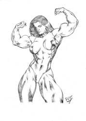 She Hulk Posing by UZOMISTUDIO