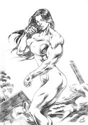 She Hulk!!! by UZOMISTUDIO