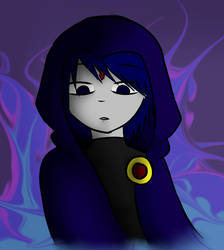 A Quick Drawing 1 (Raven- Teen Titans) by spoinge