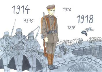 Der Stellungskrieg 1914-18 (the attrition warfare) by xGeschwatzX