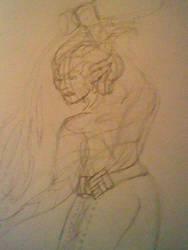 Qunari woman by LadyZoe1