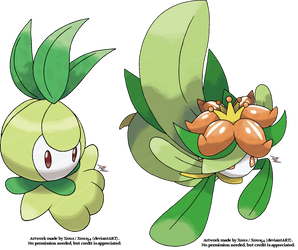 Petilil and Lilligant by Xous54