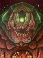 DOOM Mancubus Painting by Xous54