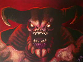DOOM Baron of Hell Painting by Xous54