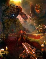 DOOM Painting by Xous54