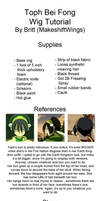 Toph Beifong Wig Tutorial by makeshiftwings30