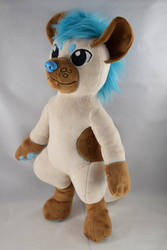 Blade the Hyena - OC Plush by makeshiftwings30