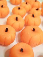 Marzipan Pumpkins by dashedandshattered
