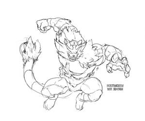 Incineroar Sketch by Namh