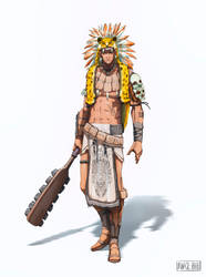 Mexican warrior by Namh