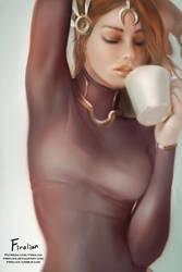 Leona - Morning Coffee by Firolian