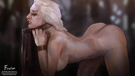 Diana - the moon falls by Firolian