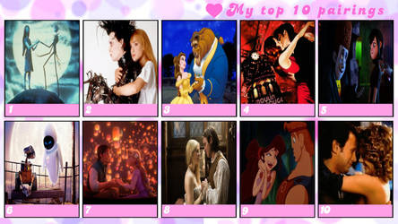 My Top 10 Favorite Movie Couples Meme by Normanjokerwise