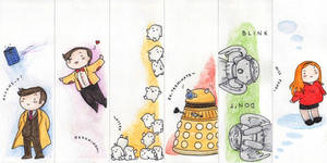Doctor who bookmarks by Feliks-Grell