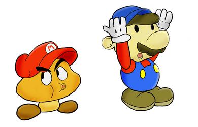 Paper Mario Goombario Update by namatamiku