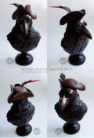 : gothic plague doctor bust : by BastardPrince