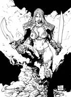 red sonja by SABOGSINTIDO