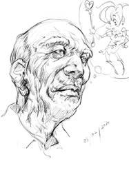 Aged Self Portrait by devchitap