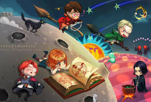 Harry potter and Malfoy by logosles