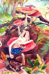 mushroom sunbath by logosles