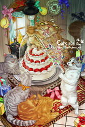 cats birthday party by logosles