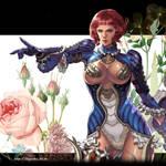 flower girl blue by logosles