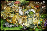 Cats Picnic Lunch by logosles