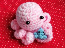 Pink Crochet Octopus by Stimorolletjuh