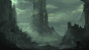 Haunted Castle concept by cbs1991