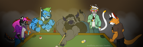 Billiards at the Bar by Songficcer