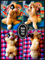 Harlow Fursona Plush Puppy by RaiynClowd